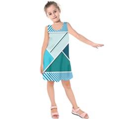 Logo Concept Banner Header Idea Kids  Sleeveless Dress