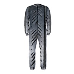 Mature Black Auto Altreifen Rubber Pattern Texture Car Onepiece Jumpsuit (kids)