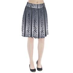 Mature Black Auto Altreifen Rubber Pattern Texture Car Pleated Skirt