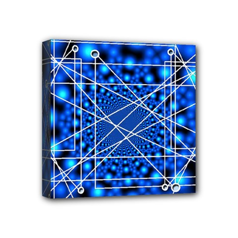 Network Connection Structure Knot Mini Canvas 4  X 4