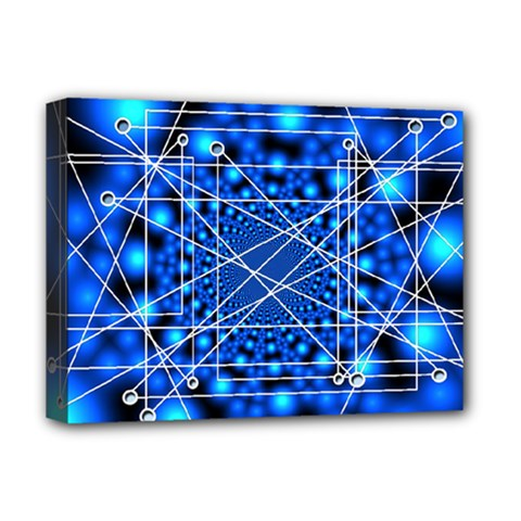 Network Connection Structure Knot Deluxe Canvas 16  X 12