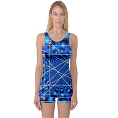 Network Connection Structure Knot One Piece Boyleg Swimsuit