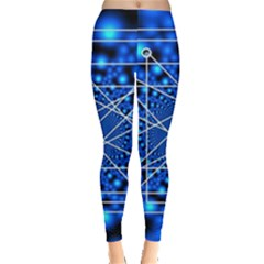 Network Connection Structure Knot Leggings