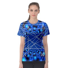 Network Connection Structure Knot Women s Sport Mesh Tee