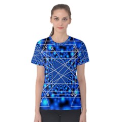 Network Connection Structure Knot Women s Cotton Tee