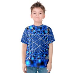 Network Connection Structure Knot Kids  Cotton Tee