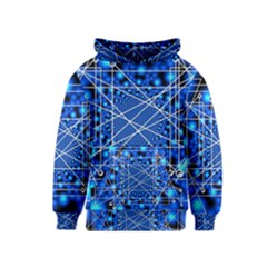 Network Connection Structure Knot Kids  Pullover Hoodie