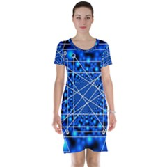 Network Connection Structure Knot Short Sleeve Nightdress