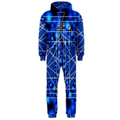 Network Connection Structure Knot Hooded Jumpsuit (men)