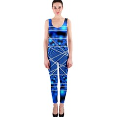 Network Connection Structure Knot Onepiece Catsuit