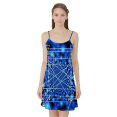 Network Connection Structure Knot Satin Night Slip