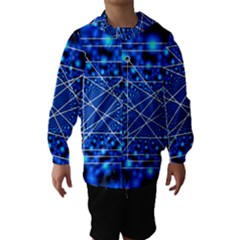 Network Connection Structure Knot Hooded Wind Breaker (kids)