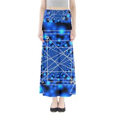 Network Connection Structure Knot Maxi Skirts