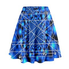 Network Connection Structure Knot High Waist Skirt