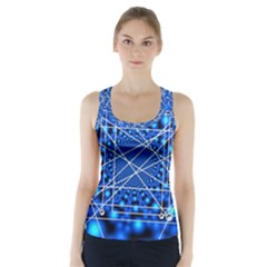 Network Connection Structure Knot Racer Back Sports Top