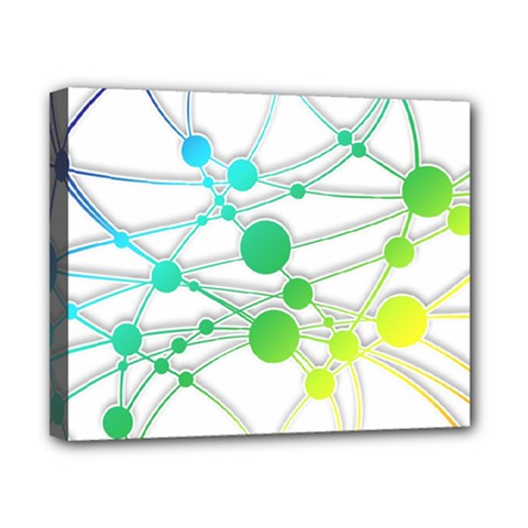 Network Connection Structure Knot Canvas 10  X 8