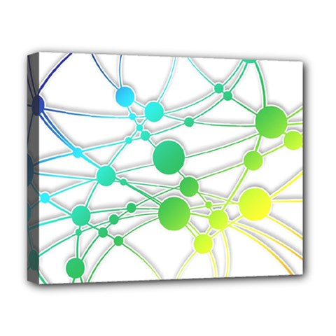 Network Connection Structure Knot Deluxe Canvas 20  X 16