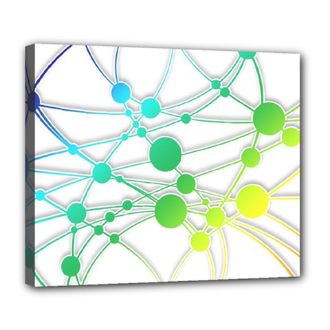 Network Connection Structure Knot Deluxe Canvas 24  X 20