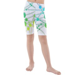Network Connection Structure Knot Kids  Mid Length Swim Shorts