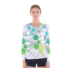 Network Connection Structure Knot Women s Long Sleeve Tee