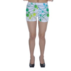 Network Connection Structure Knot Skinny Shorts