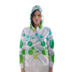 Network Connection Structure Knot Hooded Wind Breaker (women)