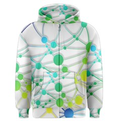 Network Connection Structure Knot Men s Zipper Hoodie