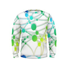 Network Connection Structure Knot Kids  Sweatshirt