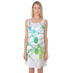 Network Connection Structure Knot Sleeveless Satin Nightdress
