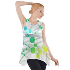 Network Connection Structure Knot Side Drop Tank Tunic