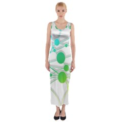 Network Connection Structure Knot Fitted Maxi Dress