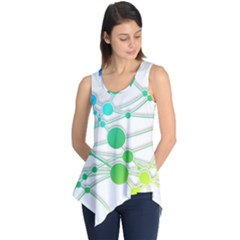 Network Connection Structure Knot Sleeveless Tunic