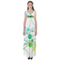 Network Connection Structure Knot Empire Waist Maxi Dress