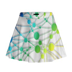 Network Connection Structure Knot Mini Flare Skirt
