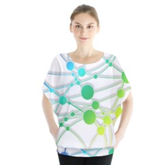 Network Connection Structure Knot Blouse
