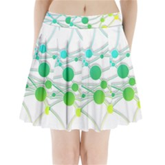 Network Connection Structure Knot Pleated Mini Skirt