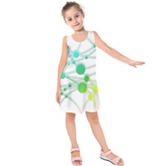 Network Connection Structure Knot Kids  Sleeveless Dress