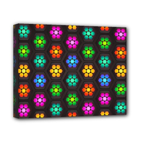Pattern Background Colorful Design Canvas 10  X 8