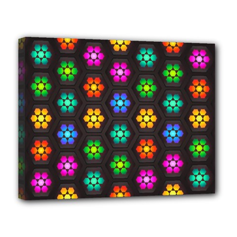 Pattern Background Colorful Design Canvas 14  X 11