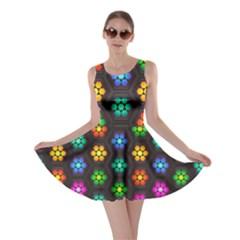 Pattern Background Colorful Design Skater Dress