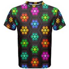 Pattern Background Colorful Design Men s Cotton Tee