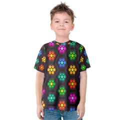 Pattern Background Colorful Design Kids  Cotton Tee