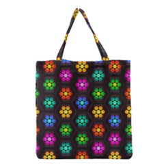 Pattern Background Colorful Design Grocery Tote Bag