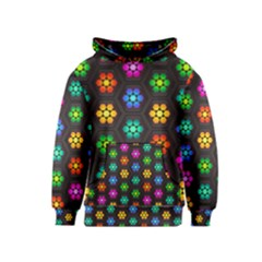 Pattern Background Colorful Design Kids  Pullover Hoodie