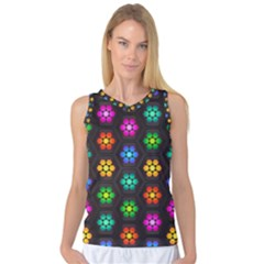 Pattern Background Colorful Design Women s Basketball Tank Top