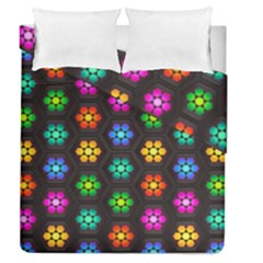 Pattern Background Colorful Design Duvet Cover Double Side (queen Size)