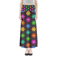 Pattern Background Colorful Design Maxi Skirts