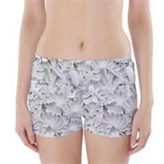Pattern Motif Decor Boyleg Bikini Wrap Bottoms