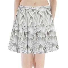 Pattern Motif Decor Pleated Mini Skirt