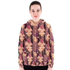 Seamless Pattern Women s Zipper Hoodie